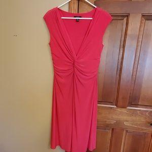 Chaps cap sleeve, twist front dress, size Large
